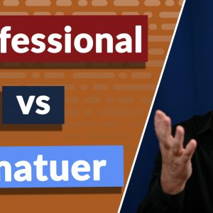 What is the difference between a professional and an amateur? Let's find out why a professional isn't always better than an amateur.